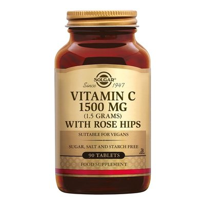 Solgar® Vitamine C1500mg + Rose Hips 90 tabletten
