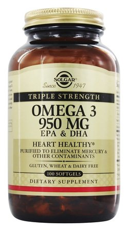 Solgar Omega 3 Triple Strength 100 Softgels